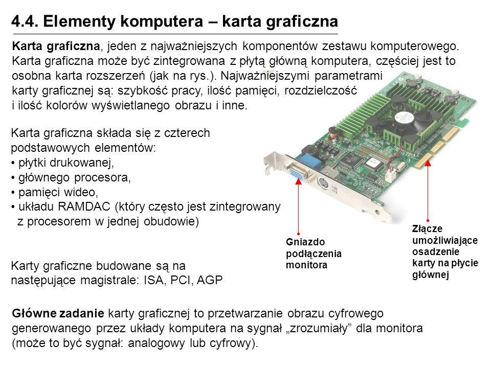 4.4. Elementy komputera – karta graficzna