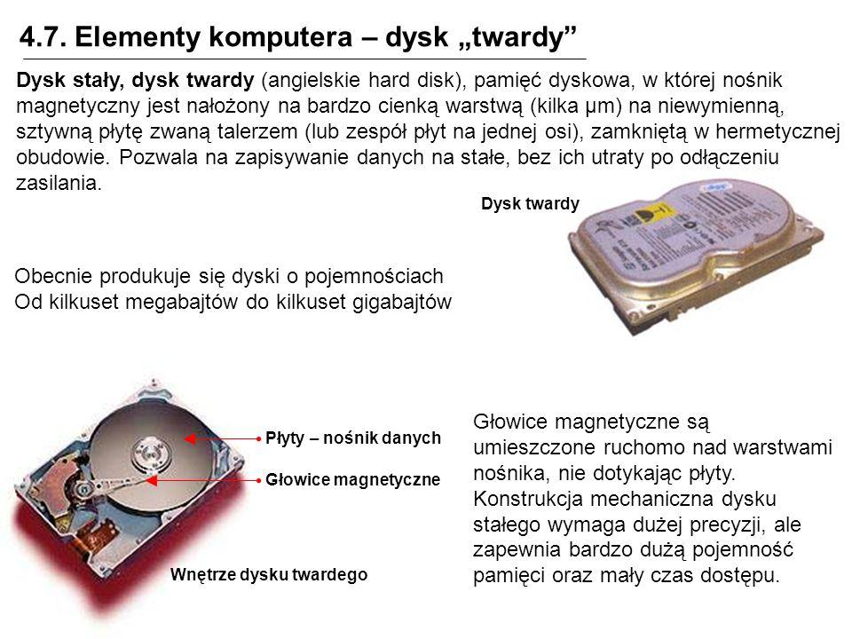"4.7. Elementy komputera – dysk ""twardy"