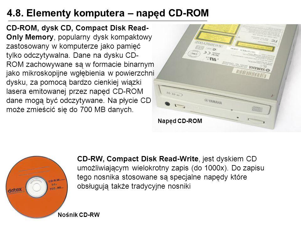 4.8. Elementy komputera – napęd CD-ROM