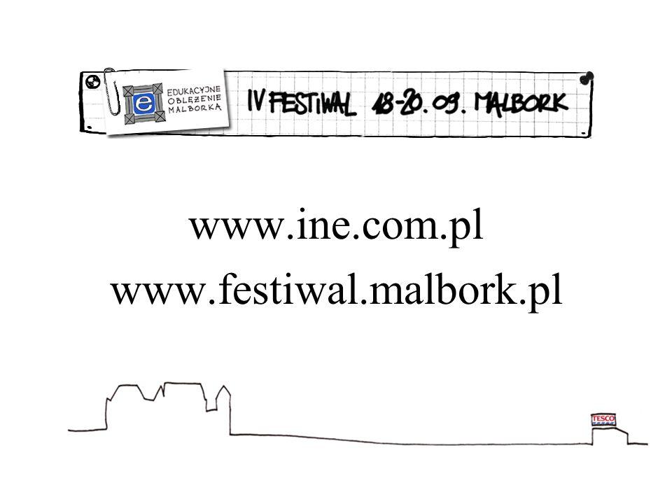 www.ine.com.pl www.festiwal.malbork.pl