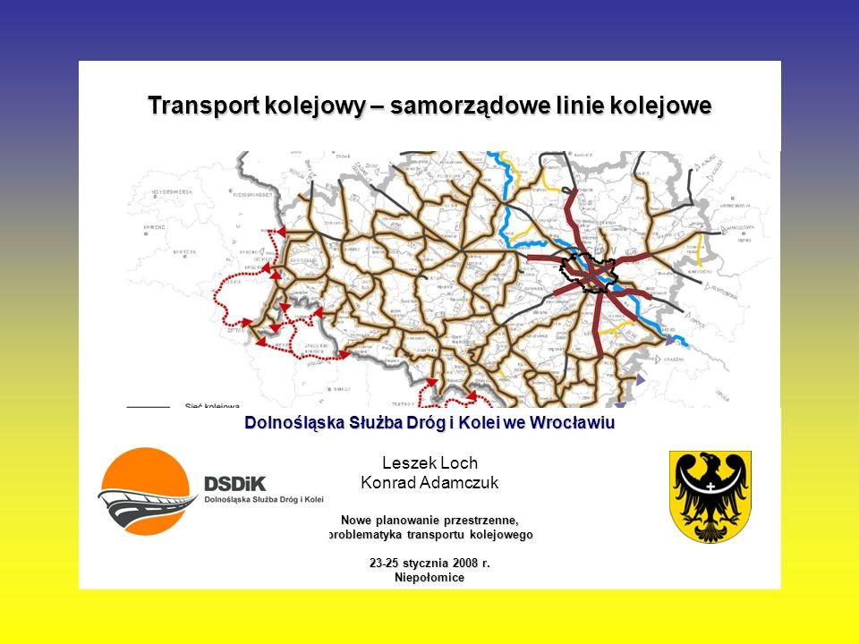 Transport kolejowy – samorządowe linie kolejowe
