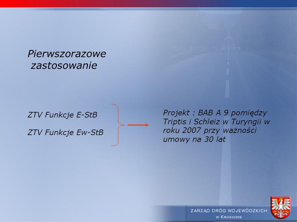 Pierwszorazowe zastosowanie Projekt : BAB A 9 pomiędzy