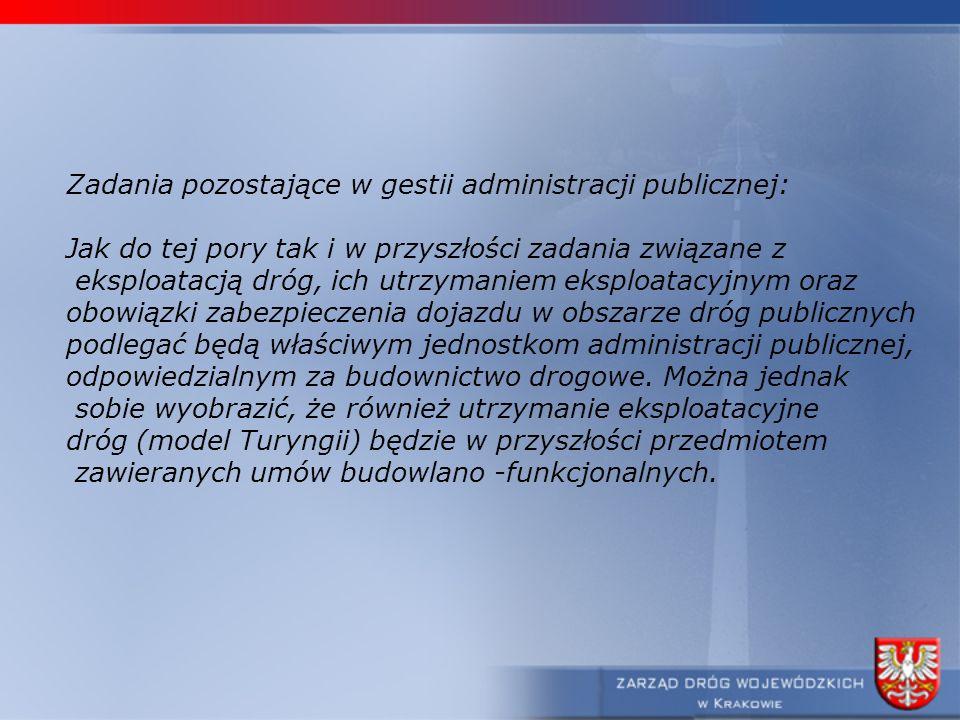 Zadania pozostające w gestii administracji publicznej:
