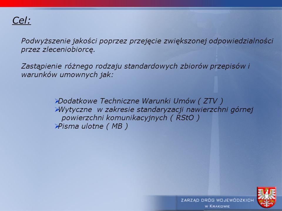 Cel: Podwyższenie jakości poprzez przejęcie zwiększonej odpowiedzialności. przez zleceniobiorcę.