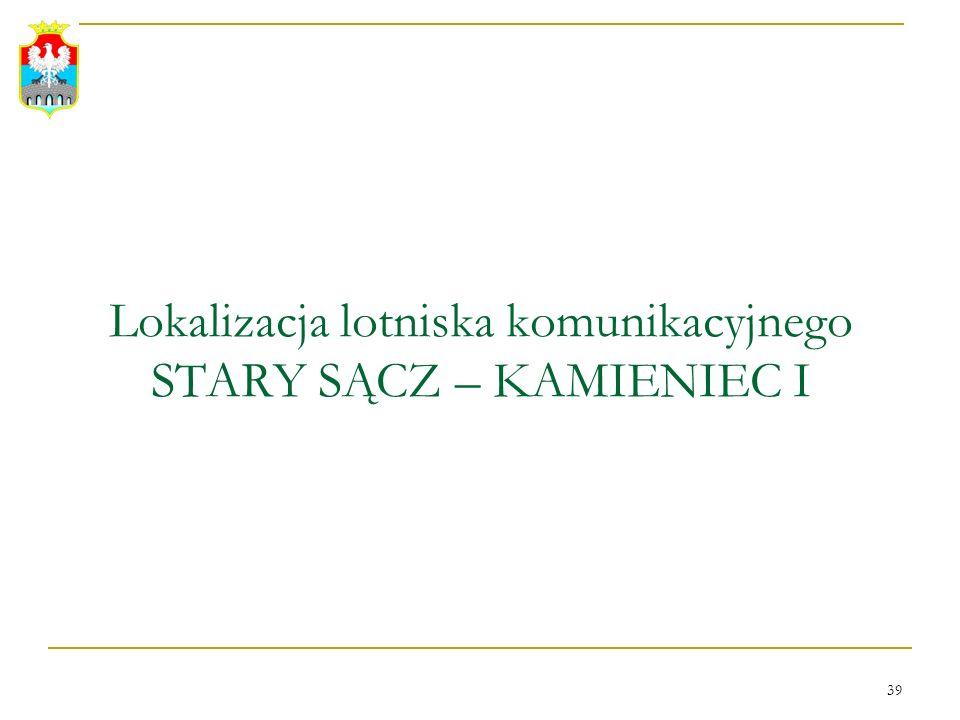 Lokalizacja lotniska komunikacyjnego STARY SĄCZ – KAMIENIEC I