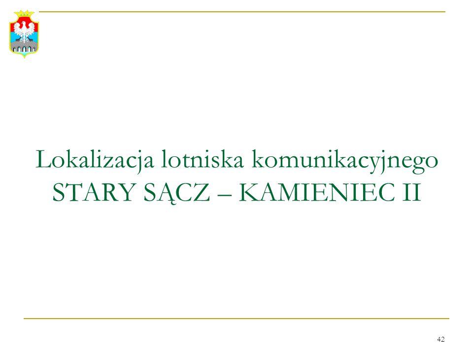 Lokalizacja lotniska komunikacyjnego STARY SĄCZ – KAMIENIEC II