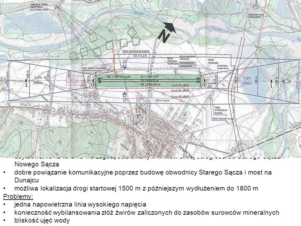 Walory lokalizacji: brak przeciwwskazań dotyczących warunków nawigacyjno – ruchowych (uwarunkowanie wysokościowe)