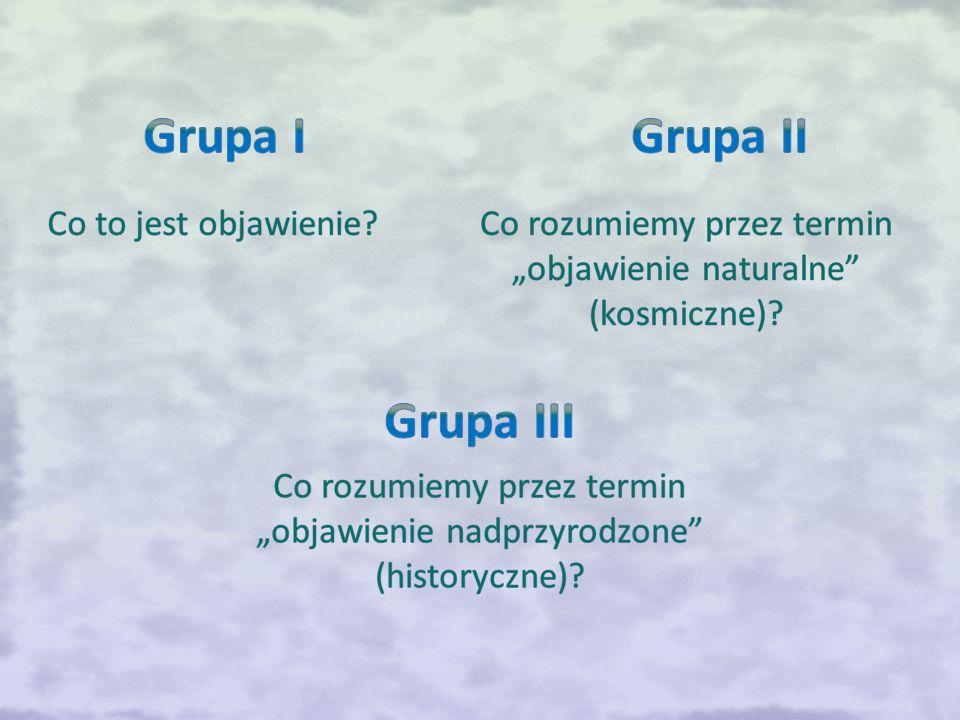 Grupa I Grupa II Grupa III