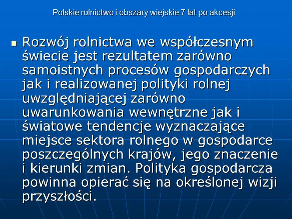 Polskie rolnictwo i obszary wiejskie 7 lat po akcesji