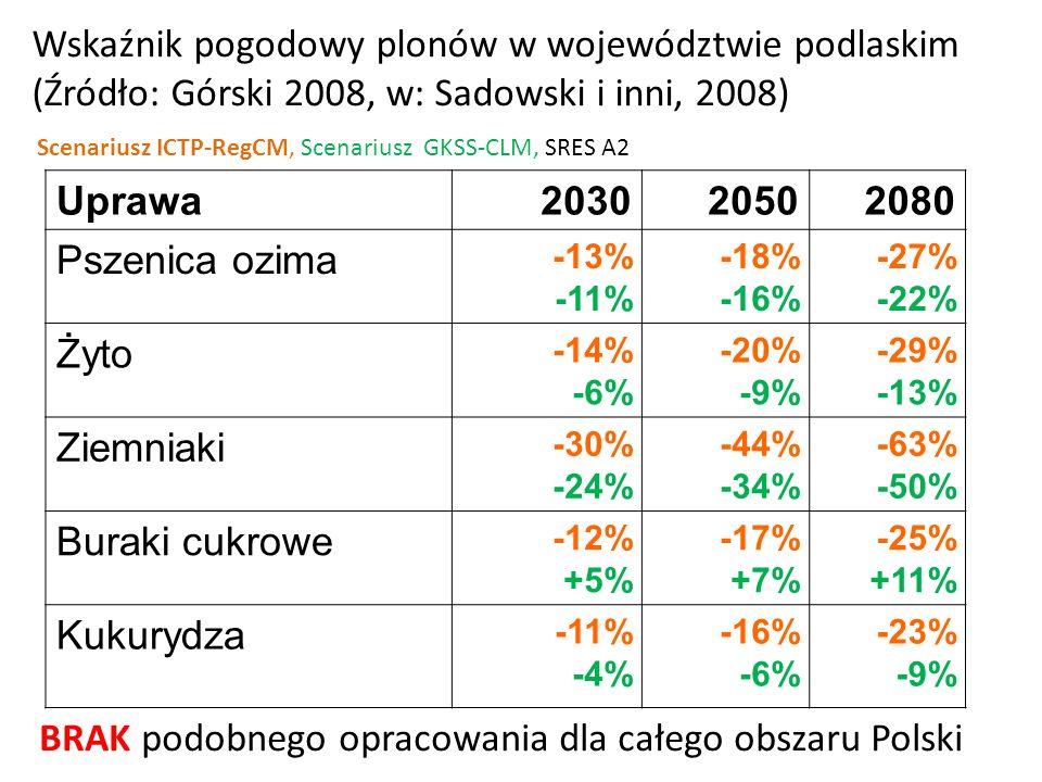 BRAK podobnego opracowania dla całego obszaru Polski