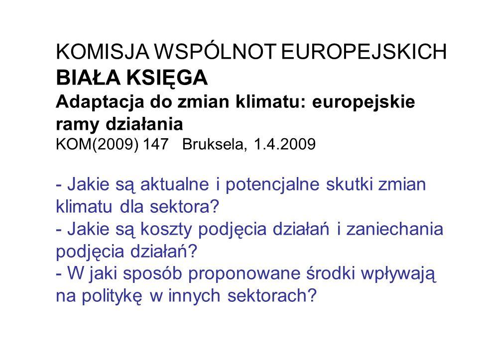 KOMISJA WSPÓLNOT EUROPEJSKICH BIAŁA KSIĘGA