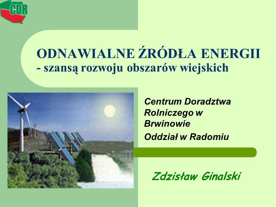 ODNAWIALNE ŹRÓDŁA ENERGII - szansą rozwoju obszarów wiejskich
