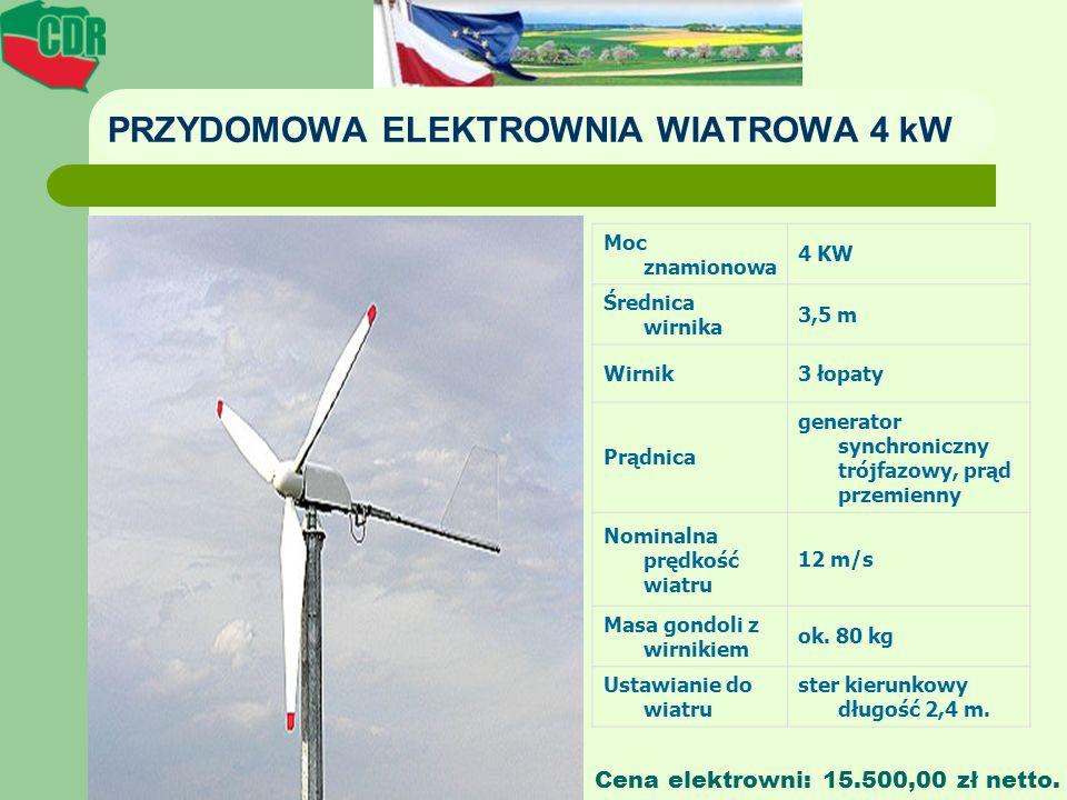 PRZYDOMOWA ELEKTROWNIA WIATROWA 4 kW
