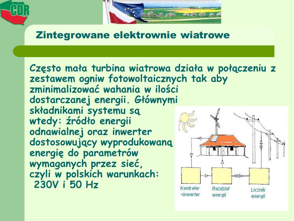 Zintegrowane elektrownie wiatrowe
