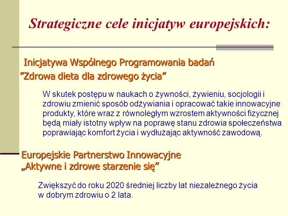 Strategiczne cele inicjatyw europejskich:
