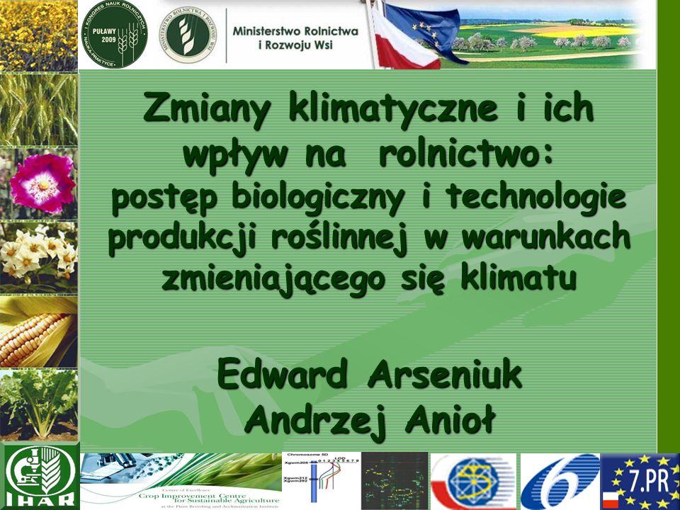 Zmiany klimatyczne i ich wpływ na rolnictwo: