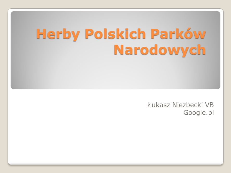 Herby Polskich Parków Narodowych