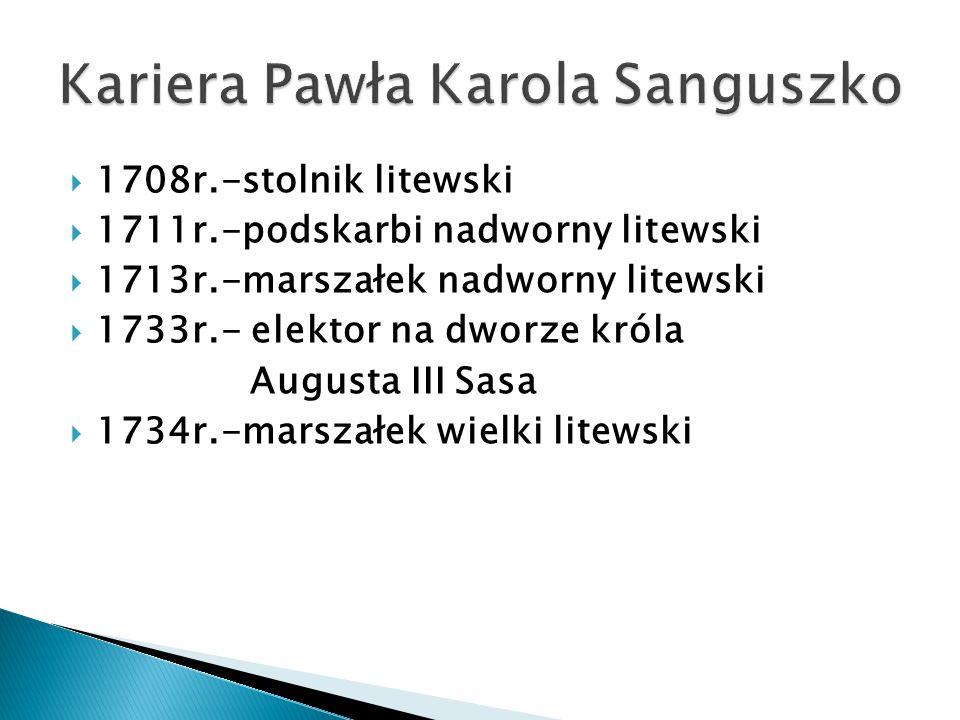 Kariera Pawła Karola Sanguszko