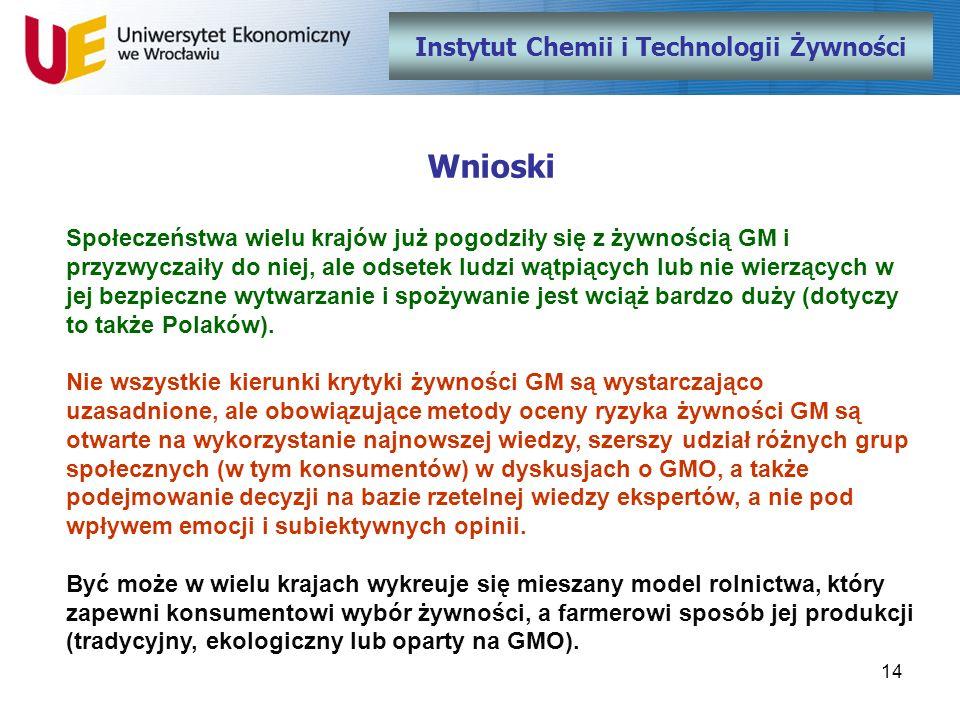 Instytut Chemii i Technologii Żywności