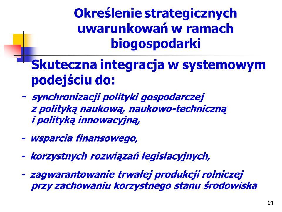Określenie strategicznych uwarunkowań w ramach biogospodarki