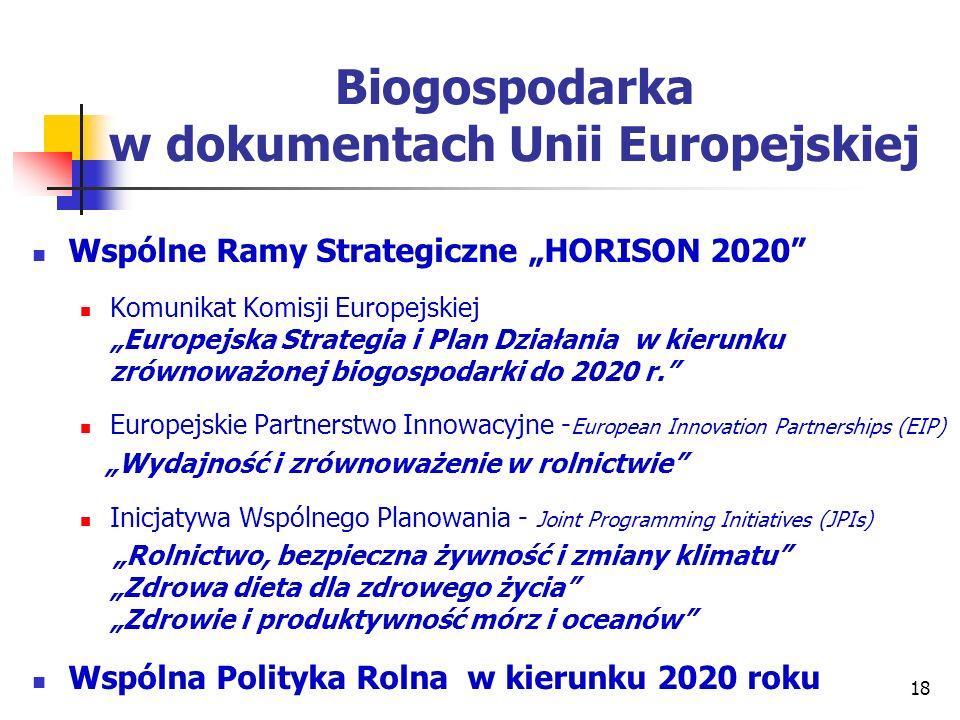 Biogospodarka w dokumentach Unii Europejskiej
