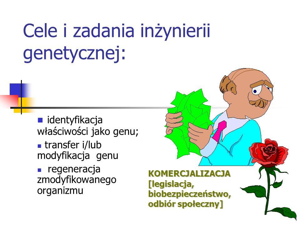 Cele i zadania inżynierii genetycznej: