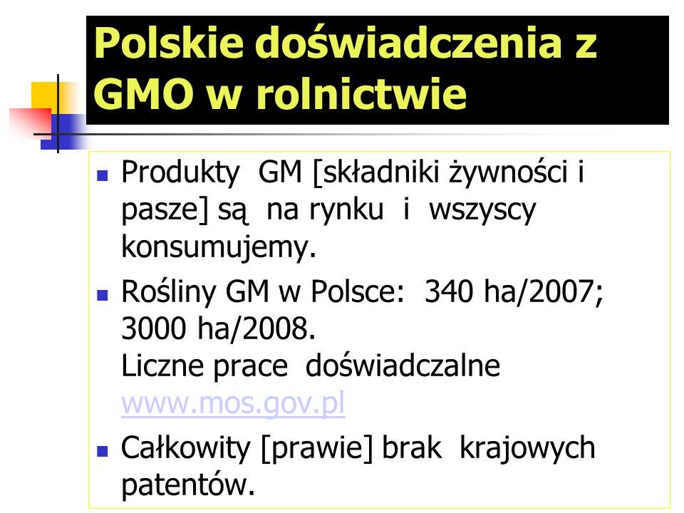 Polskie doświadczenia z GMO w rolnictwie