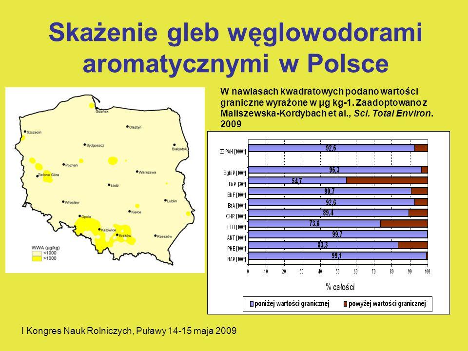 Skażenie gleb węglowodorami aromatycznymi w Polsce