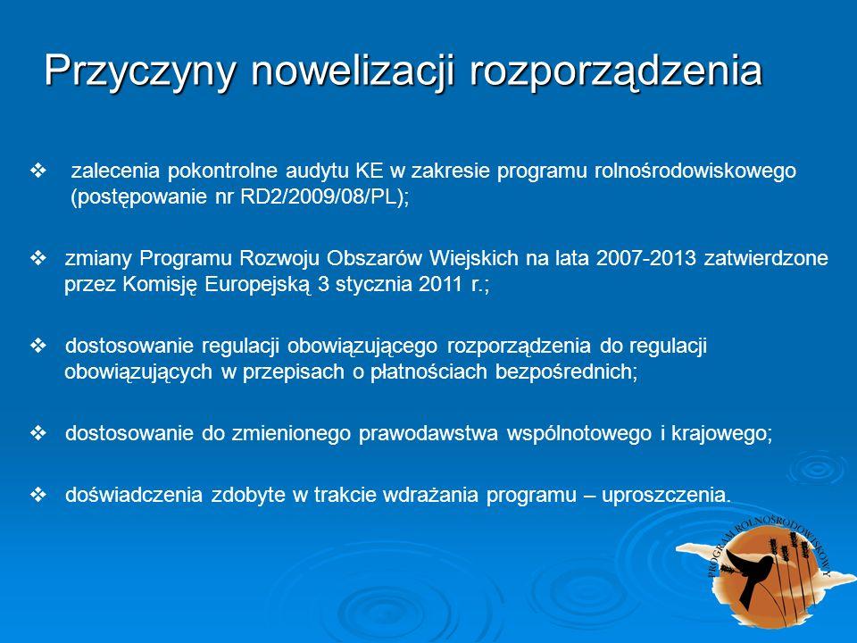 Przyczyny nowelizacji rozporządzenia