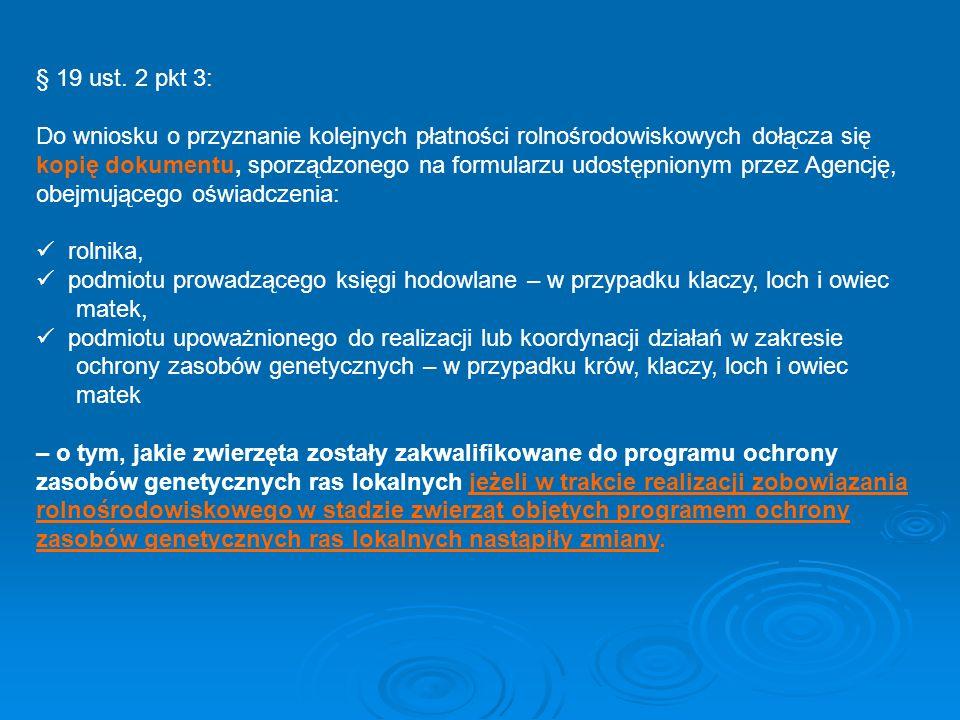 § 19 ust. 2 pkt 3: