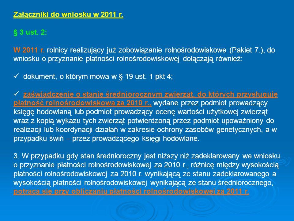 Załączniki do wniosku w 2011 r.