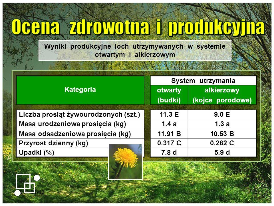Ocena zdrowotna i produkcyjna