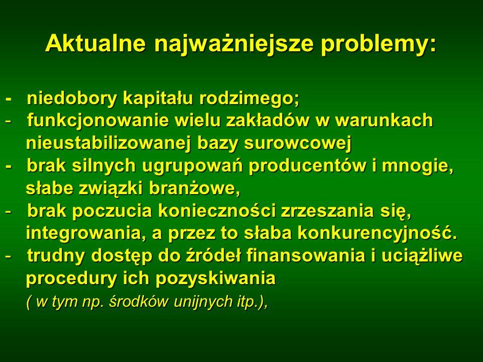 Aktualne najważniejsze problemy: