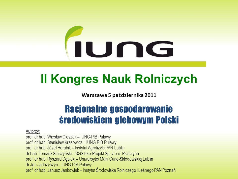 II Kongres Nauk Rolniczych Warszawa 5 października 2011