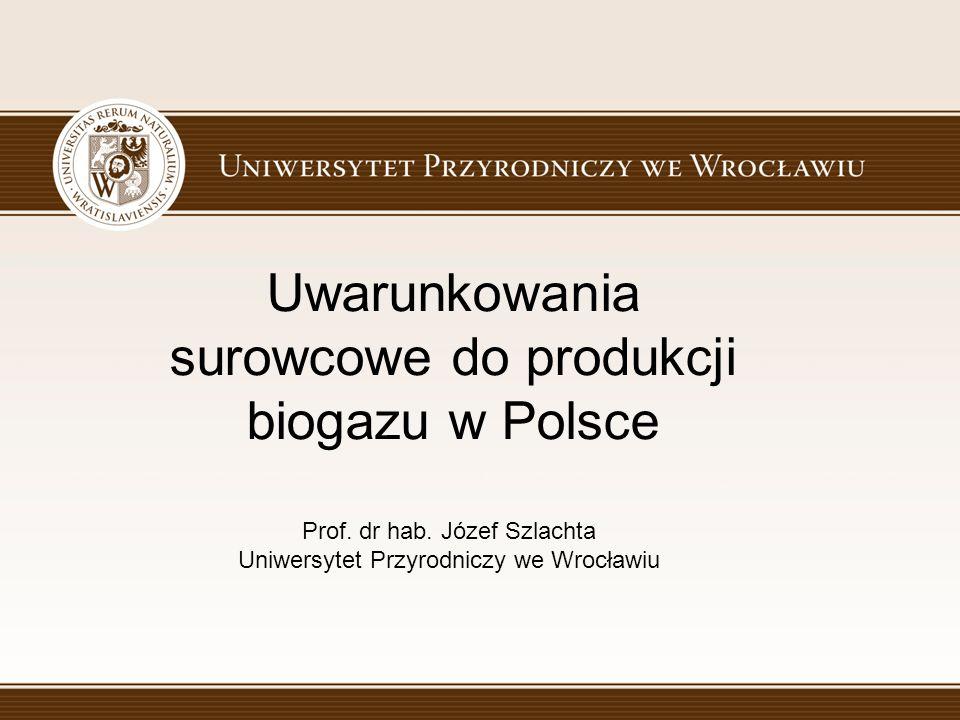 Uwarunkowania surowcowe do produkcji biogazu w Polsce