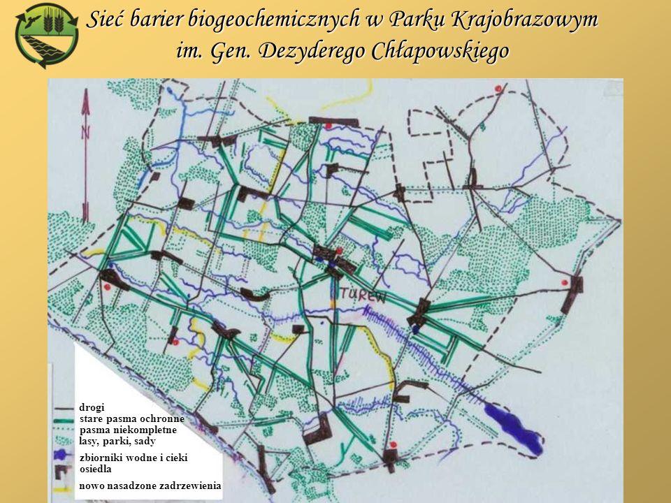 Sieć barier biogeochemicznych w Parku Krajobrazowym