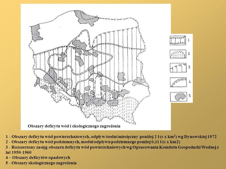 Obszary deficytu wód i ekologicznego zagrożenia