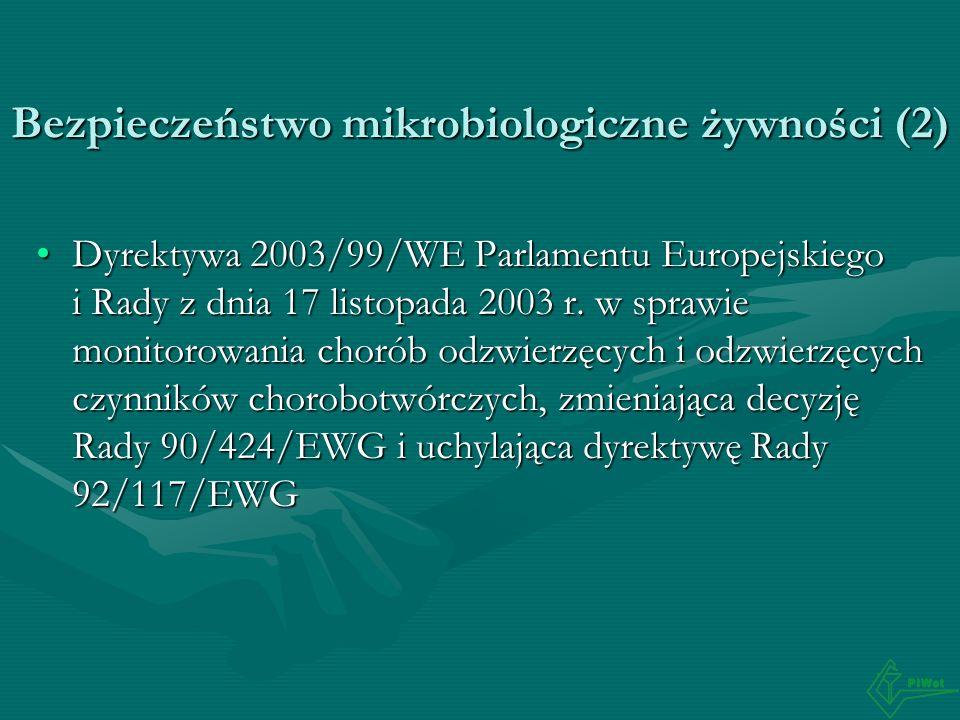 Bezpieczeństwo mikrobiologiczne żywności (2)