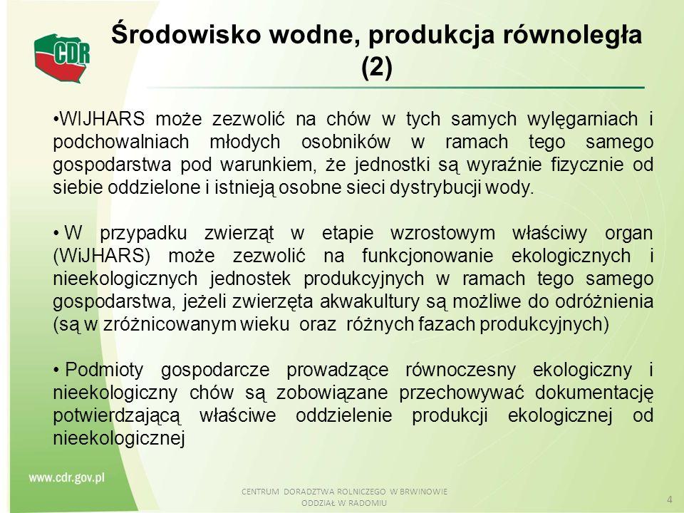Środowisko wodne, produkcja równoległa (2)
