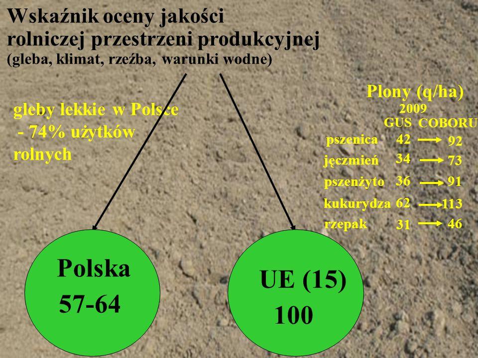 Polska UE (15) 57-64 100 Wskaźnik oceny jakości