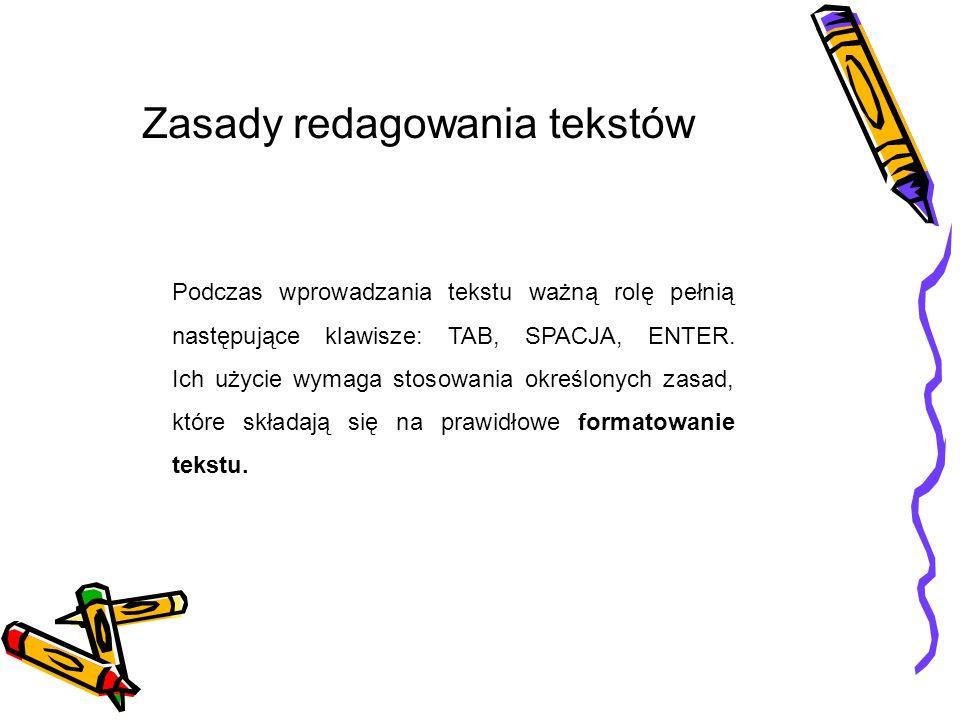 Zasady redagowania tekstów
