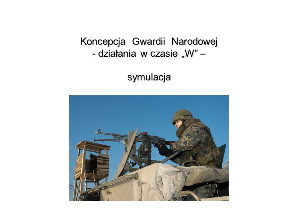 """Koncepcja Gwardii Narodowej - działania w czasie """"W – symulacja"""