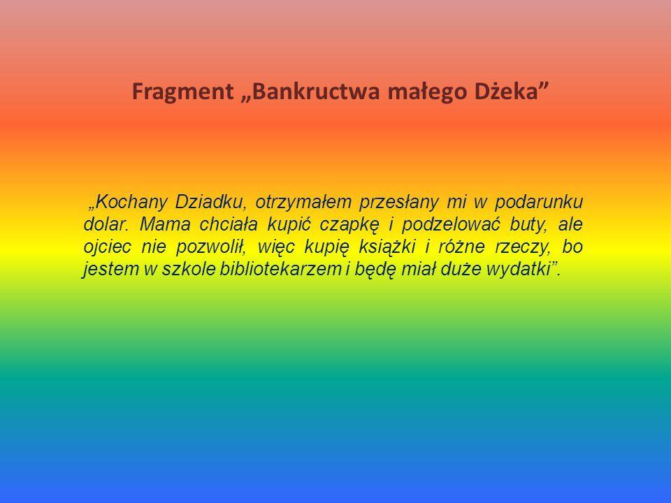 """Fragment """"Bankructwa małego Dżeka"""
