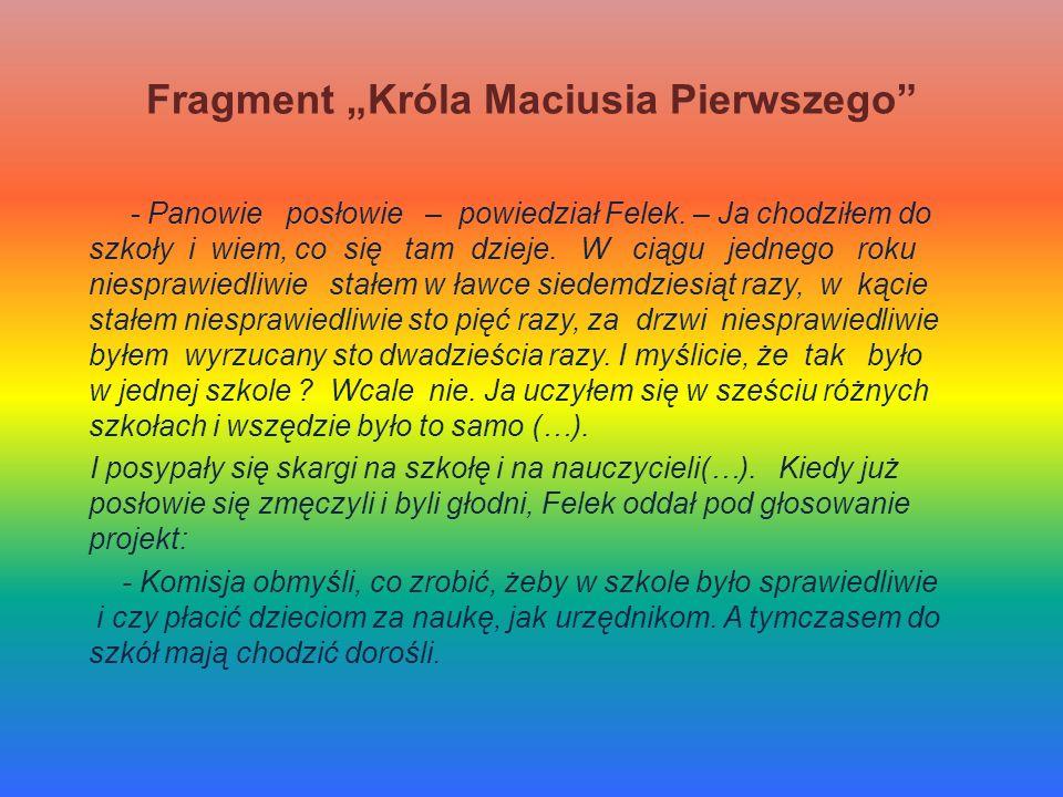 """Fragment """"Króla Maciusia Pierwszego"""