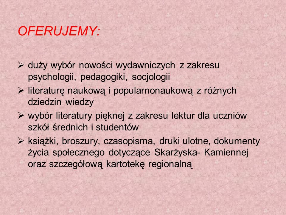 OFERUJEMY: duży wybór nowości wydawniczych z zakresu psychologii, pedagogiki, socjologii.