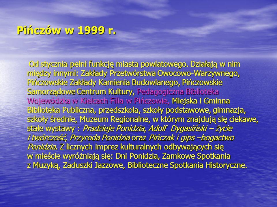 Pińczów w 1999 r.