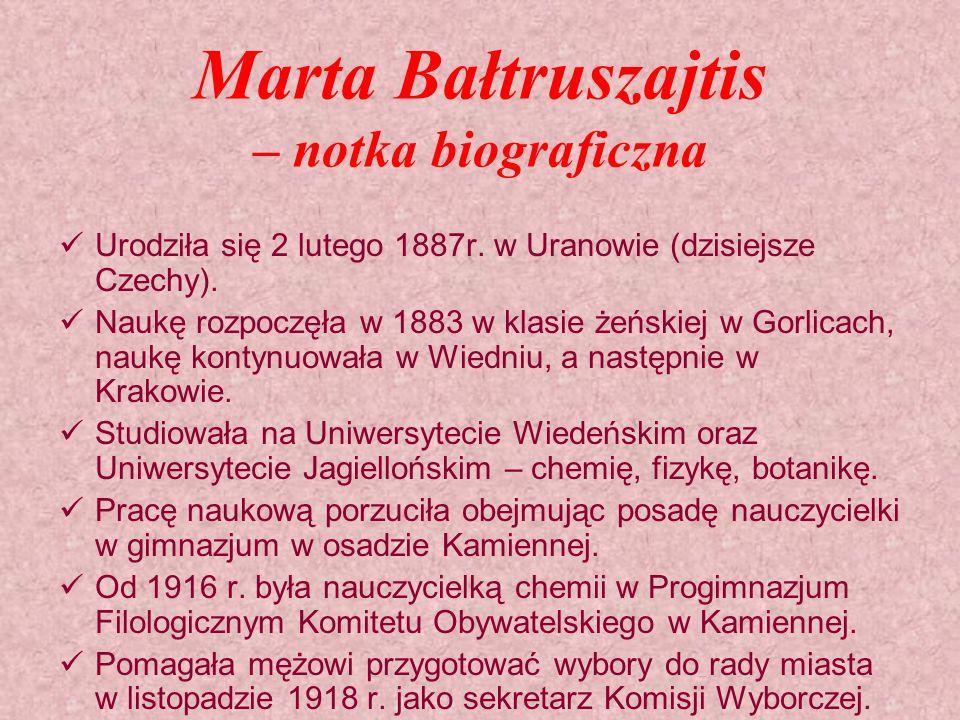 Marta Bałtruszajtis – notka biograficzna