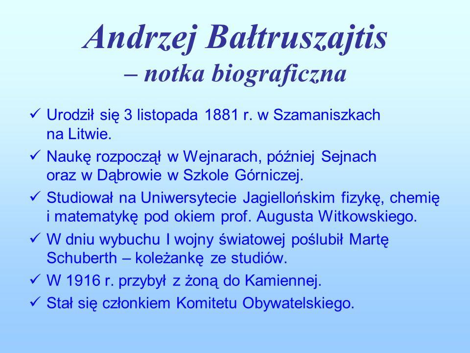 Andrzej Bałtruszajtis – notka biograficzna