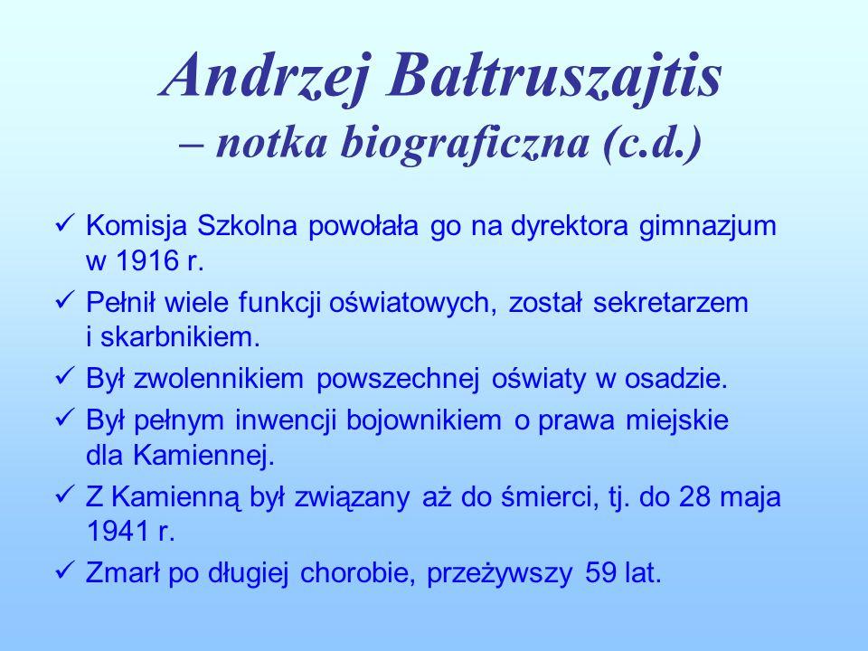 Andrzej Bałtruszajtis – notka biograficzna (c.d.)