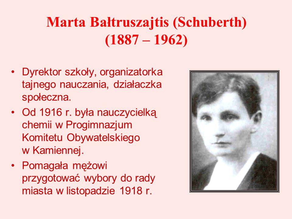 Marta Bałtruszajtis (Schuberth) (1887 – 1962)
